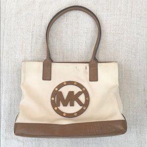 MICHAEL KORS Canvas Stud Tote Bag